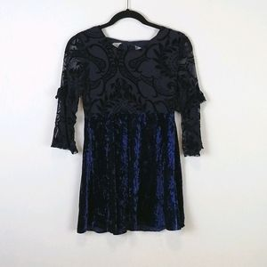 Sequin Hearts Girls Velvet Dress